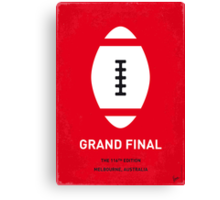 MY GRAND FINAL MINIMAL POSTER Canvas Print