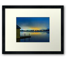 Boatshed - Yellow  Framed Print
