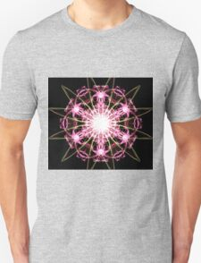 pink blast on Black T-Shirt