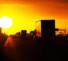 Peak hour sunrise geelong by Bardiboy