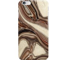 abstract rustic wood grain brown marble texture iPhone Case/Skin