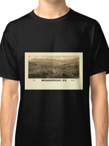 Panoramic Maps Middlebury Vt Classic T-Shirt