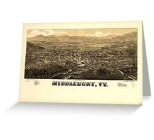Panoramic Maps Middlebury Vt Greeting Card