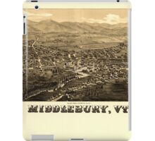 Panoramic Maps Middlebury Vt iPad Case/Skin