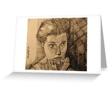 Girl in the Mirror Greeting Card
