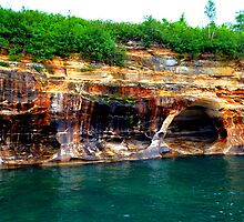 Pictured Rocks 8 by Debbie  Maglothin