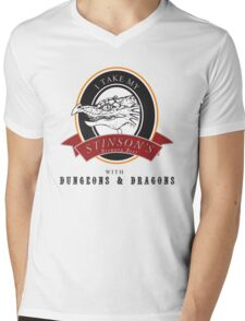 Stinson Brewery Beer and D&D Mens V-Neck T-Shirt