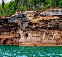 Pictured Rocks 3 by Debbie  Maglothin