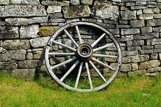 Wagon Wheel 2 by Debbie  Maglothin