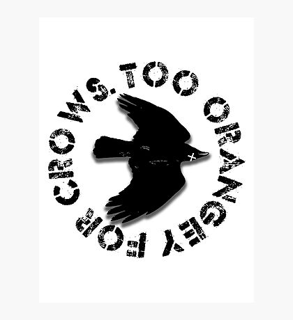 Too orangey for crows Photographic Print