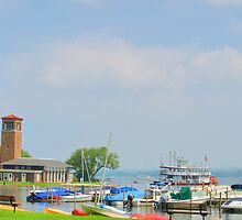 Chautauqua Lakefront with Bell Tower by TauquaDesign