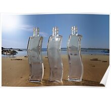 three curvy bottles Poster