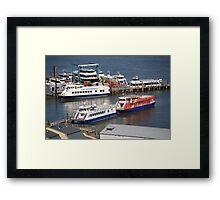 New York City Sightseeing Boats Framed Print