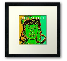 Be Still Meditate Digital Framed Print