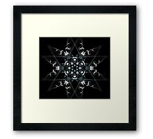 snow star on Black Framed Print