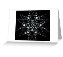 snow star on Black Greeting Card