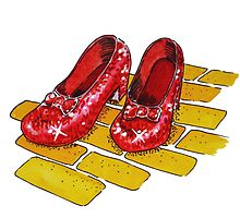 Ruby Slippers Wizard Of Oz by Irina Sztukowski