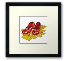 Ruby Slippers Wizard Of Oz Framed Print