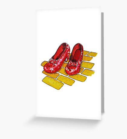 Ruby Slippers Wizard Of Oz Greeting Card