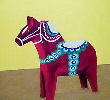 Dala Horse For Marlene by Stella Pinilla