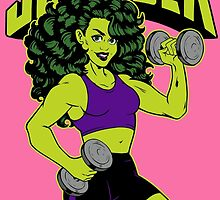 She-Hulk Athletic Club Colorful by KrisKnife