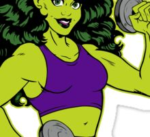 She-Hulk Athletic Club Colorful Sticker