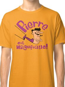 Pierre est Magnifique - cartoon drawing of trapeze artist with handsome mustache Classic T-Shirt