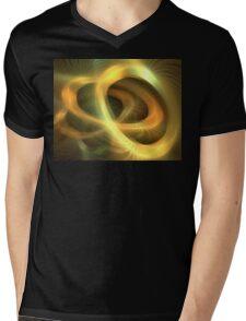 Golden Rings Mens V-Neck T-Shirt