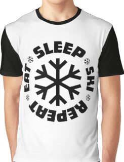 Eat Sleep Ski Repeat Graphic T-Shirt