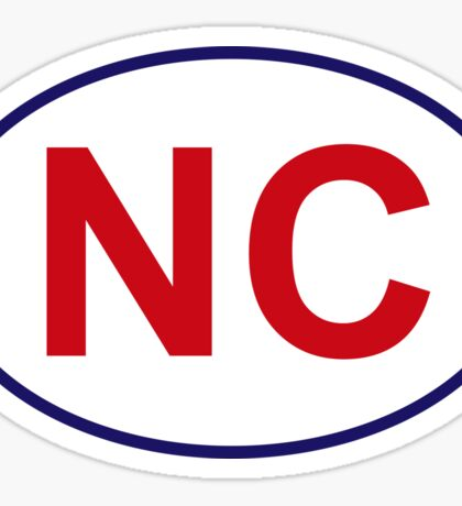 North Carolina State Sticker Sticker