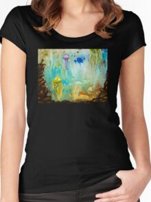 Jellyfish March to The Surface Women's Fitted Scoop T-Shirt