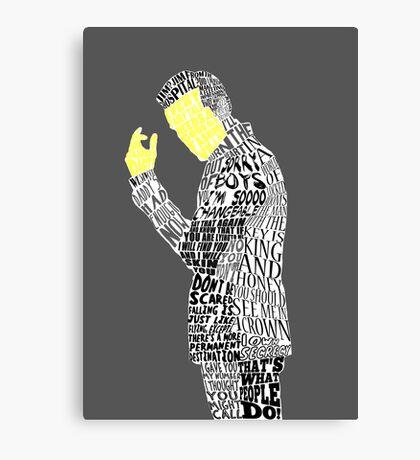 Jim Moriarty Typography Art Canvas Print
