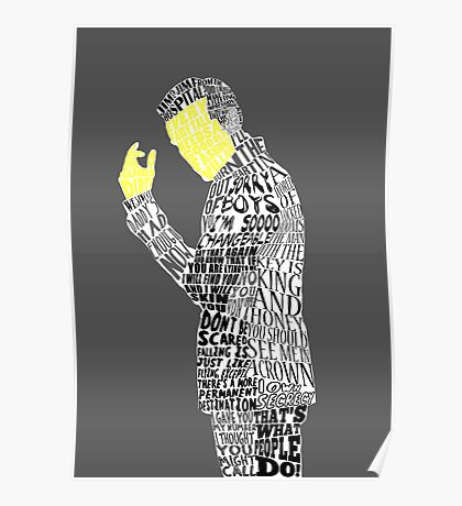 Jim Moriarty Typography Art Poster