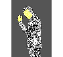Jim Moriarty Typography Art Photographic Print