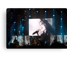 Singing all night long Canvas Print