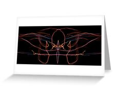 orange red blue on Black Greeting Card