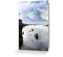 tranquil coastal kerry view Greeting Card