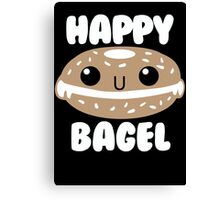 Happy Bagel Canvas Print