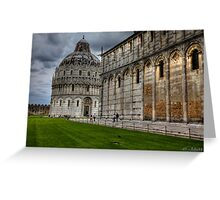 The unknown part of Pisa - Italy  (see large) Greeting Card
