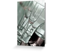 New Year and Champagne Greeting Card