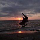 Sunset's Flying Kid - Joven Volante De La Puesta Del Sol by Bernhard Matejka