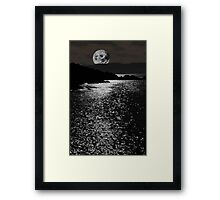 tranquil rocky kerry moonlit night view Framed Print