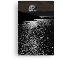tranquil rocky kerry moonlit night view Canvas Print