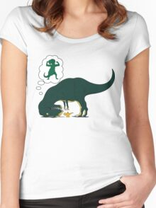 T rex Lamp Women's Fitted Scoop T-Shirt