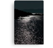 tranquil rocky kerry night view Canvas Print