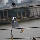 Padlocks on Millennium Bridge London by troffle24