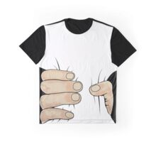 Funny Hands Grabbing Graphic T-Shirt