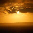 Perfect golden orange Sunset by troffle24