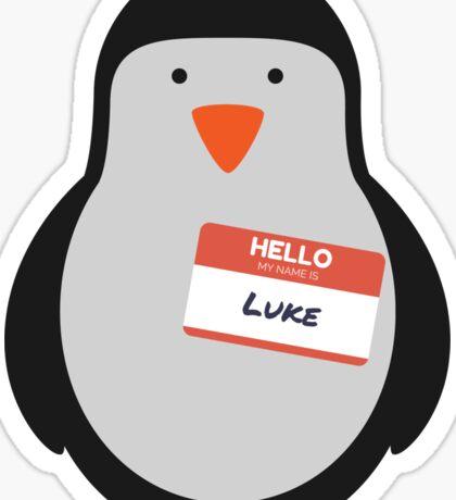 Luke Hemmings 5sos Penguin Sticker