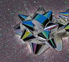 Christmas:  Solarized Silver Stars Sticker